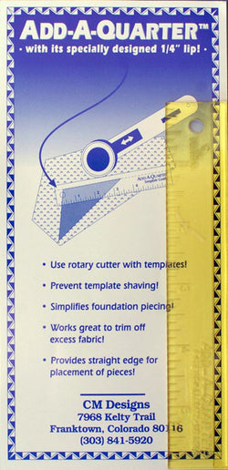 Add A Quarter Ruler 6 inch Ruler