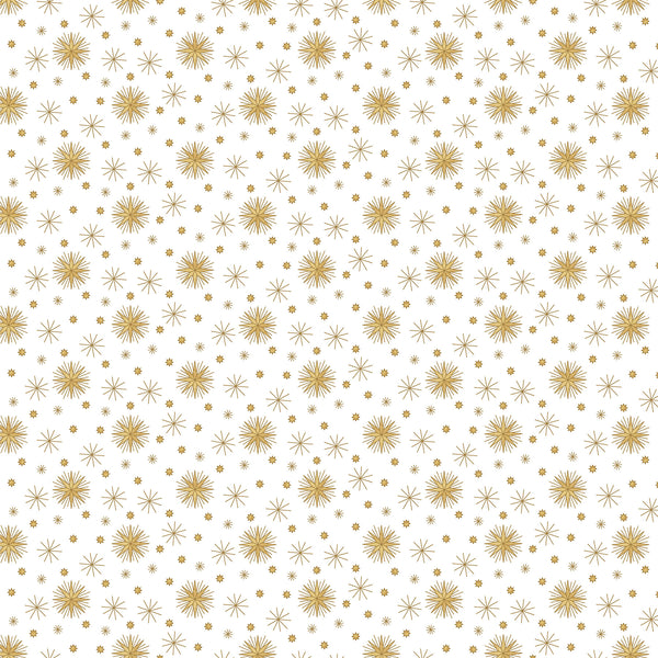 Angels Above Stonehenge Beige with Gold Metallic Stars 22893M-10