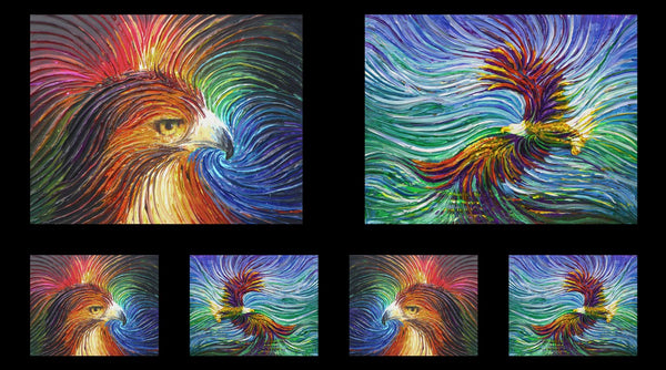 Artworks IX Eagle and Wave Ombre Panel 26753-X
