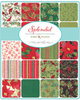 Splendid Christmas Jelly Roll Swatches