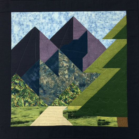 Majestic Mountain 24 Inch Block Pattern Jenny Ms Quilting Company