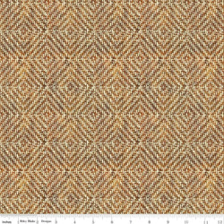 Pinewood Acres - Weave Brown Riley Blake C-7756