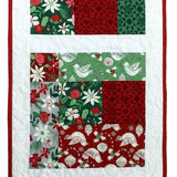 Christmas Table Runner Quilt Kit Close-Up
