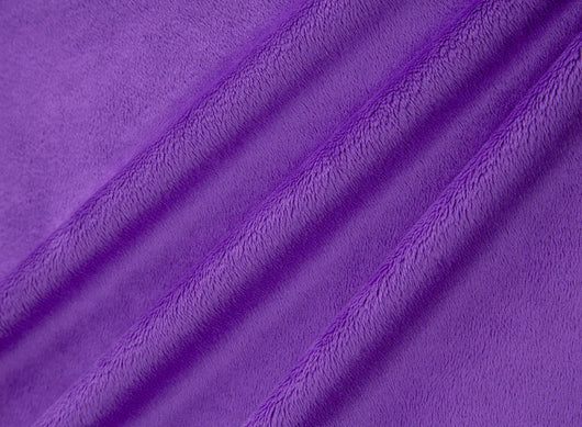 Cuddle Solid Purple Fabric DR131202