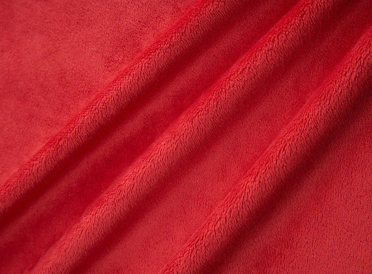Cuddle Solid Red Fabric DR131238