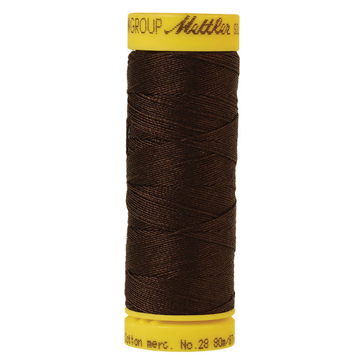 Dark Brown Mettler 28wt Thread 1002