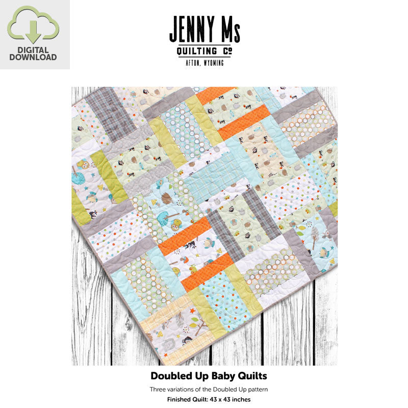 Baby Quilt Patterns.Doubled Up Three Baby Quilt Patterns Jenny Ms Quilting Company