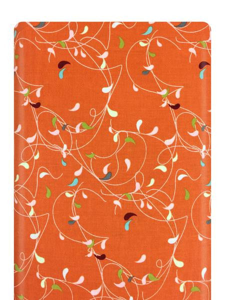 Flow Splash Orange Fabric 1591 11