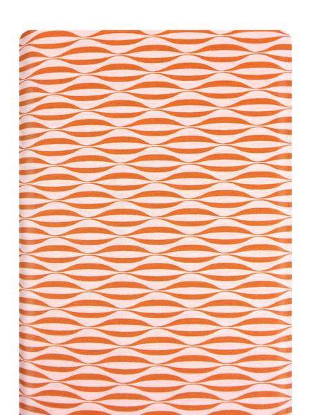 Flow Waves Orange Fabric 1594 11