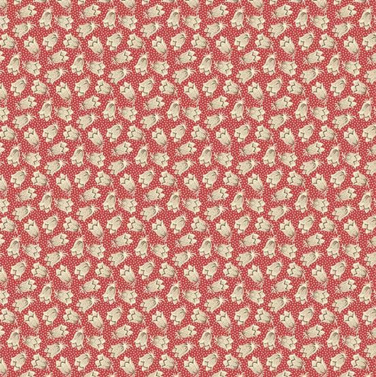Giggleswick Mill Tulip Bells Red Fabric A-8223-R