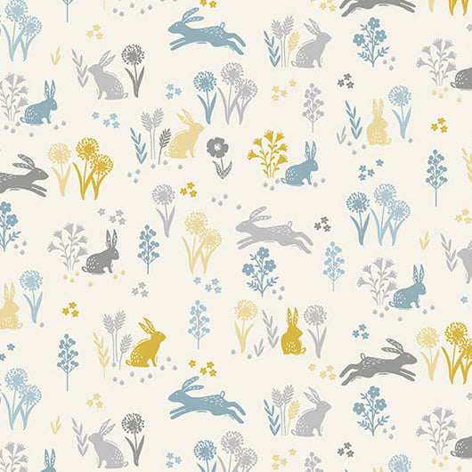 Grove by Makower UK Cream Rabbits Fabric TP 2163-Q