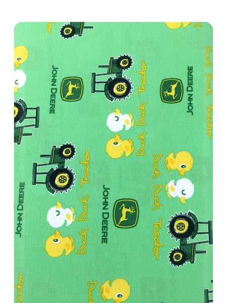 John Deere Duck, Duck, Tractor on Green Fabric