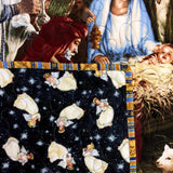 Manger Nativity Christmas Quilt Kit Close-Up