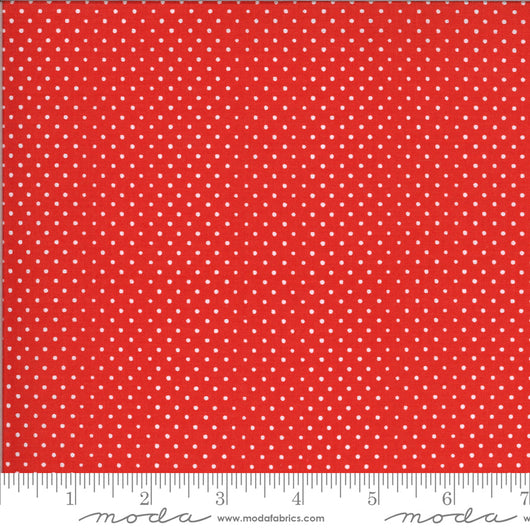 On the Farm  Red with White Small Dots Fabric  Moda 20708 16