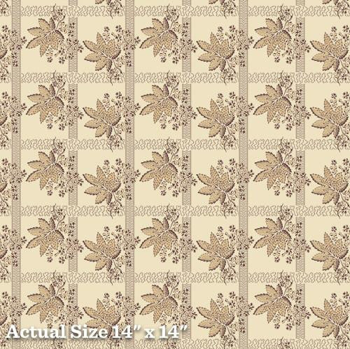 Pheasant & Traceries Bronze Leave Bunch Fabric A-8294-N