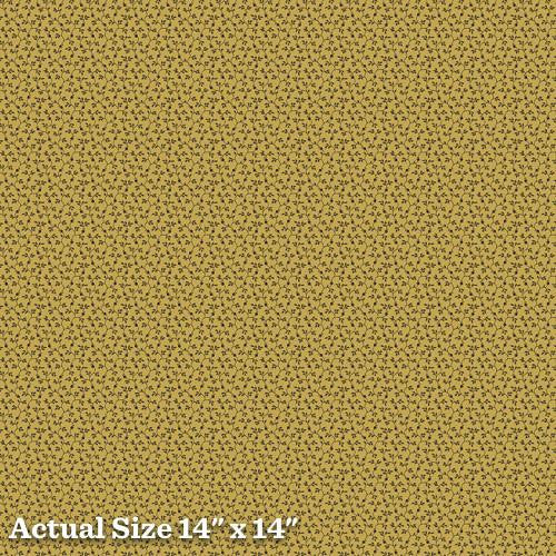 Pheasant & Traceries Leave Vine Gold Fabric A-8297-Y