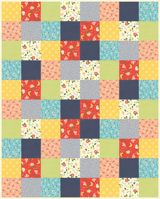 Simple Square Block Quilt Kit