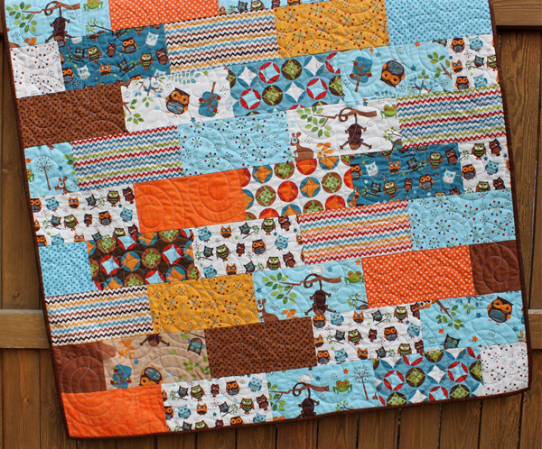 Hooty Hoot Returns Baby Quilt