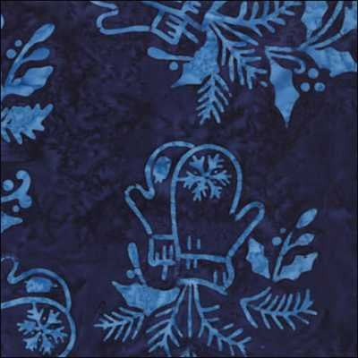 Snow Days Batik Blue Mittens - 42070 29\