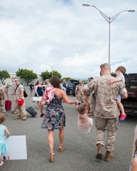 Our most recent deployment homecoming!  Thank goodness is was over a year ago!