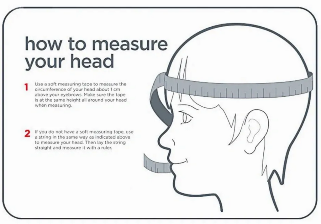 How to measure circumference of your head?