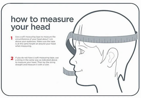 How to measure circumference of your head for paragliding helmet?