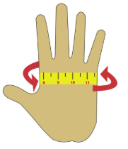 SupAir Touch Gloves Sizing Chart