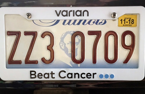 """Beat Cancer"" Plastic License Plate Frame"