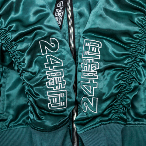 "Teal ""Arsenal"" MA-1 Bomber Jacket"