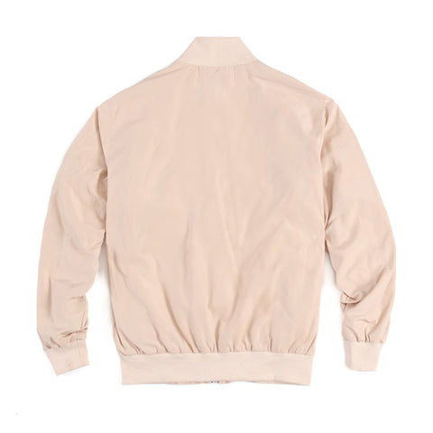"Tan ""Zint"" Zipper Bomber Jacket"