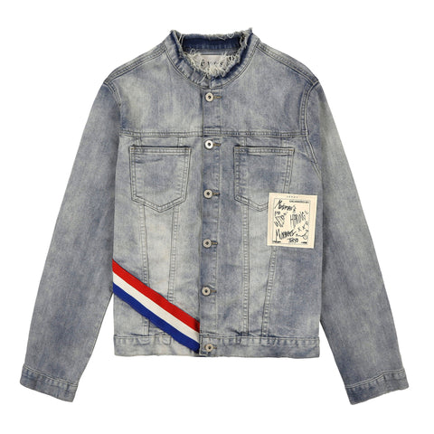 Kyoto Tri-stripe Denim Jacket