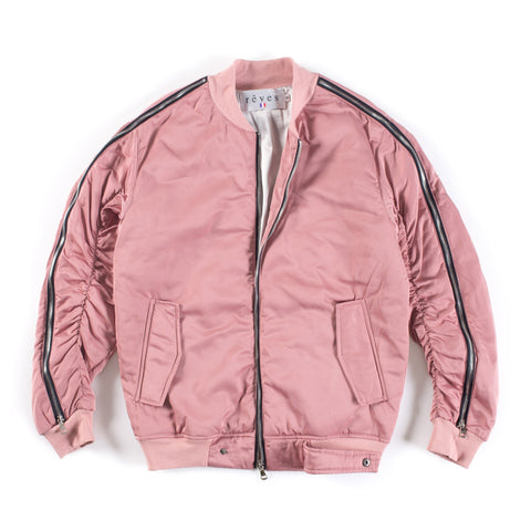 "Salmon ""Zint"" Zipper Bomber Jacket"