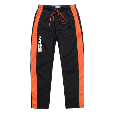"Black/Orange ""Yabai"" Track Pants"