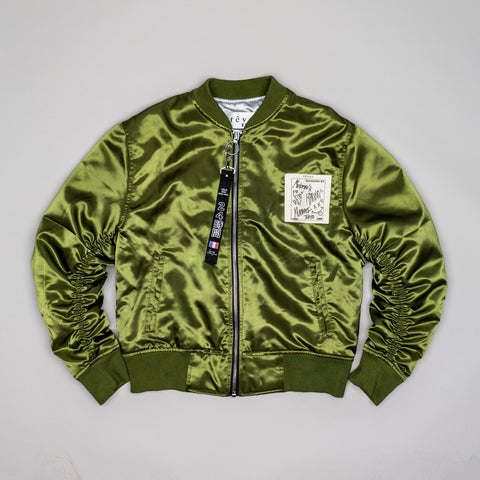 "Olive  ""Arsenal"" MA-1 Bomber Jacket"