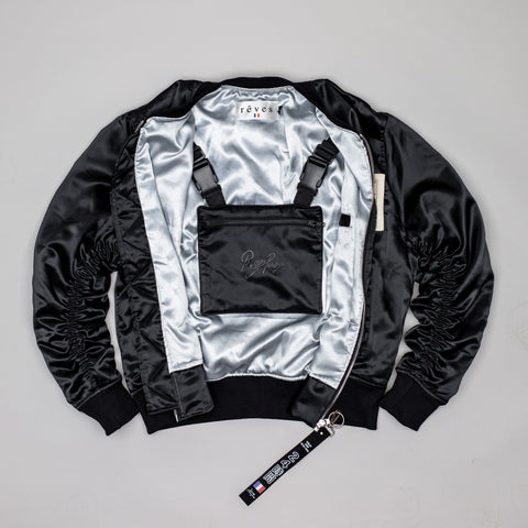 "Black ""Arsenal"" MA-1 Bomber Jacket"