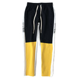 "WHITE/BLACK/YELLOW ""YABAI"" TRACK PANTS"
