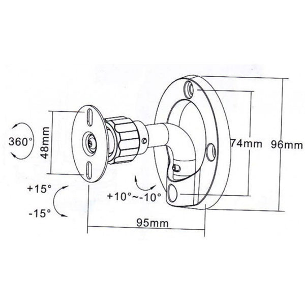 Universal Speaker Wall/Ceiling Mount
