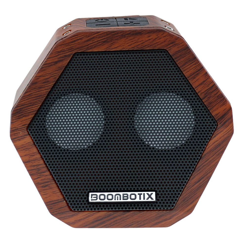 Front Image of Woodgrain Boombot Rex Bluetooth Speaker