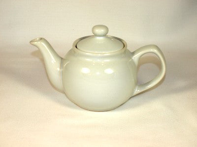 White Ceramic Teapot - 3 Cup