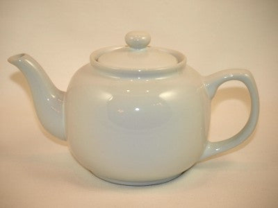 White Ceramic Teapot - 6 Cup