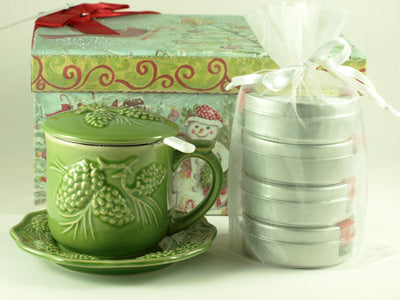 Evergreen Teacup Gift Set