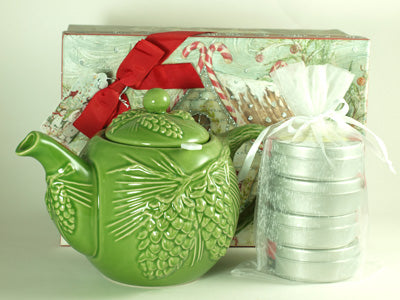 Evergreen Teapot Gift Set