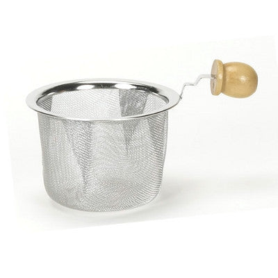 "2 1/2"" Strainer with Wood Handle"