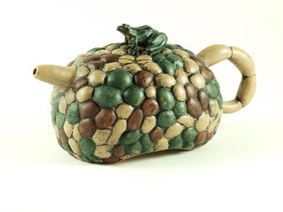 Frog on the River Stone Yixing Teapot