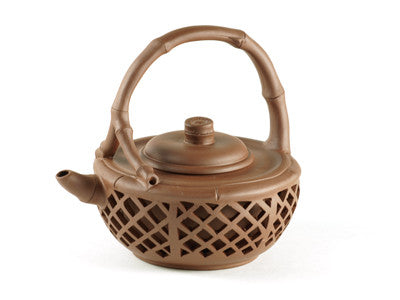 Carved Basket Yixing Teapot