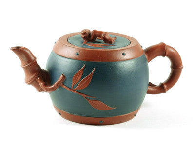 Bamboo Drum Yixing Teapot