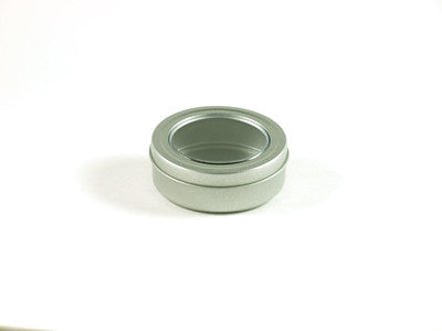 Clear Lid Round Tin
