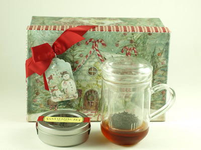 Glass Cup with Infuser Basket Gift Set