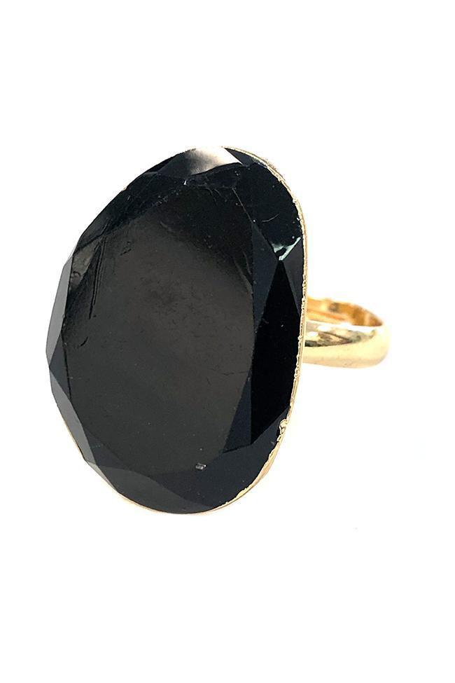 Kristalize Lux Ring Black