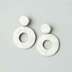 Marie Marble Earrings